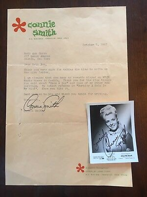 1967 Connie Smith Country Music Singer Photograph Fan Mail Autograph Near Mint