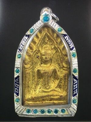 Magic Star Phra Khun Paen Lp Pina Wat Sanomlao Lucky Gamble Gem Thai Amulet