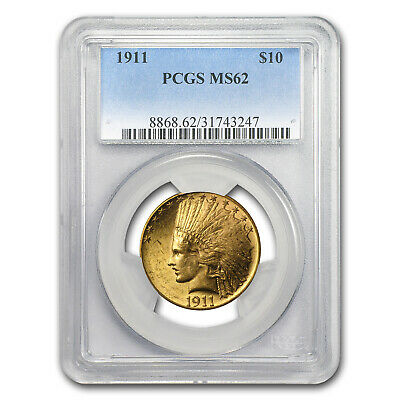 1911 $10 Indian Gold Eagle MS-62 PCGS - SKU #11014
