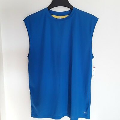 ef0e7db76103f Mens muscle shirt moisture wicking brand Athletech new with tags color blue