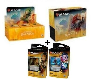 Magic Guilds Of Ravnica Set: Booster Box + Bundle + Planeswalker Decks!