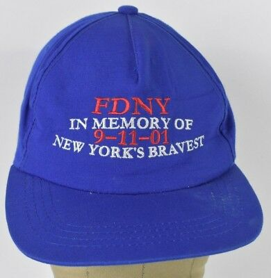 bfdc6728cab Blue FDNY in memory of 9-11 Embroidered baseball hat cap Adjustable Snapback