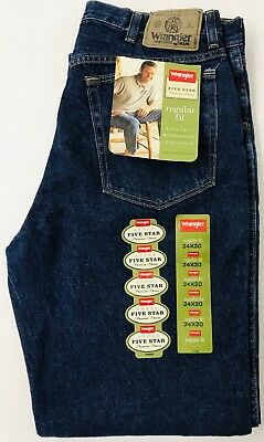 446f2027ecc Wrangler Hero Blue Jeans Mens 34 x 30 Regular Fit Blue Denim Authentic Five  Star