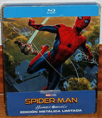 Spider-Man Homecoming Steelbook Blu-Ray New Sealed Action (Unopened) R2