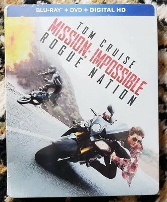 Brand New Mission Impossible Rogue Nation Blu-Ray/Dvd/Digital Steelbook Best Buy