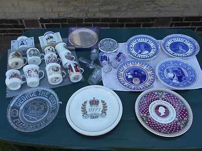 Royal Family Collectables,  Large Collection Various Mugs Plates Spoons