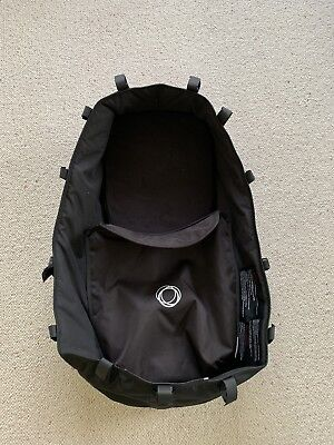 Bugaboo Donkey (v1) Carrycot with Apron in Black, Used but in v. good condition.
