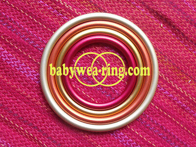 Certified Aluminium Ring For Baby Slings 4 Sizes - New XL size! - FREE SHIPPING