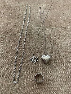 Sterling Silver - Lot of Necklaces, Ring and James Avery Pendant