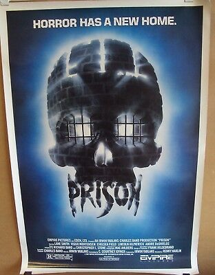 PRISON Original Movie POSTER Horror VIGGO MORTENSEN Skull CHELSEA FIELD Gore 87