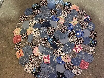 Brand New Ready Tacked Patchwork Hexagons X 110  100% Cottons