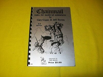 Chainmail Rules For Medieval Miniatures 3Rd Ed Dungeons & Dragons - 1 5Th Print