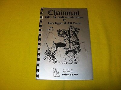 Chainmail Rules For Medieval Miniatures 3Rd Ed Dungeons & Dragons - 3 4Th Print