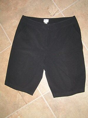 Chicos Black Stretch Ladies Golf Walking Dress Shorts Size 2 Short Exc Cond.