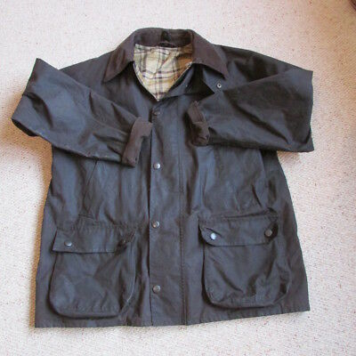 """mans waxed jacket Medium M&S, Barbour style chest 38-40"""" brown"""