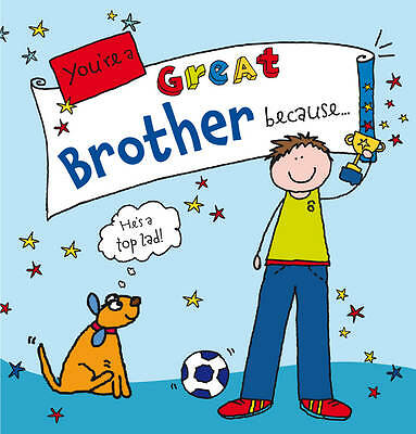 NEW You're a Great Brother Because. . . by Ged Backland (Hardback) GIFT BOOK