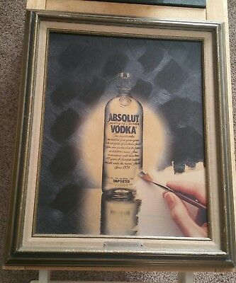 "Absolutely Vodka ""Absolute masterpiece"" Acrylic On Canvas"