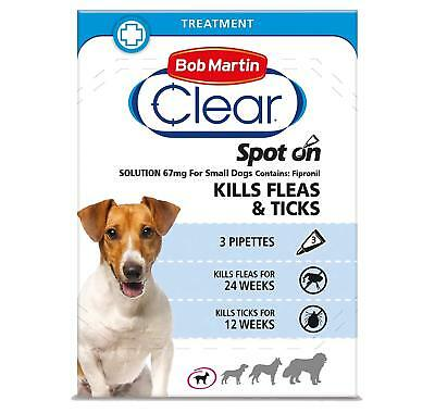 Bob Martin Clear Spot On for DOGS - 3 Pipettes - ONLY £5.99
