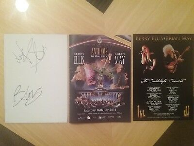 Brian May & Kerry Ellis Autograph Package.