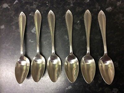 Vintage Set of 6 Silver Plated Grapefruit Spoons.