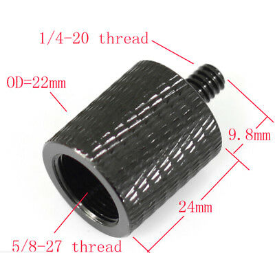 """New thread adapter microphone stand 5/8"""" 27 female to 1/4"""" 20 male camera'tri Gh"""