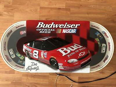 Budweiser NASCAR Lighted Sign Dale Earnhardt Jr. RARE