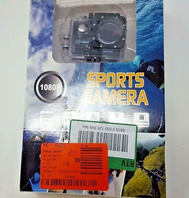 "Action Camera, 12MP 1080P 2"" LCD Screen, Waterproof Sports Cam 140 Deg Wide O1"