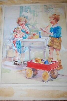 """Advertising Art """"Taking Orders"""" Kellogg Co By Snyder & Black Early 1900'S"""
