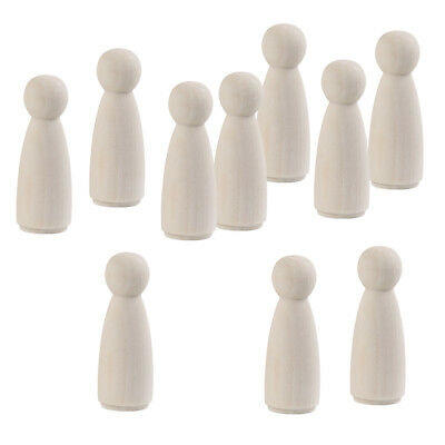 20Pc Unpainted Female Wood Peg Doll People Bodies Bride Decor DIY Art Crafts
