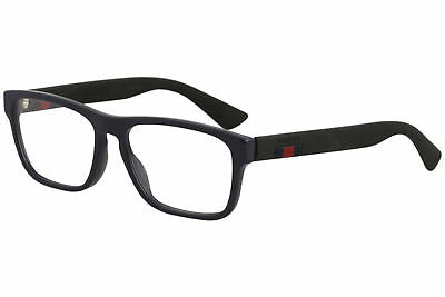 8b84ea755ae8 Gucci Eyeglasses GG0174O GG/0174/O 008 Blue/Black Full Rim Optical Frame