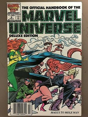 Marvel Universe Deluxe Edition #8 1986 VF Mockingbird Magnus to Mole Man