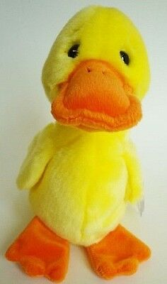 Ty Beanie Buddies Quackers the Yellow Duck Plush 9