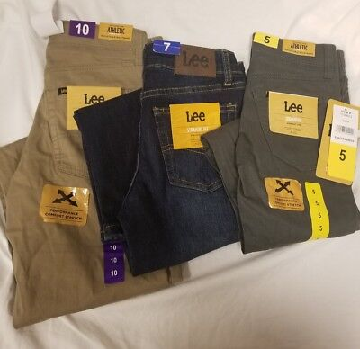 Lee Boys' Straight Fit Straight Leg Performance Comfort Stretch Jeans - VARIETY