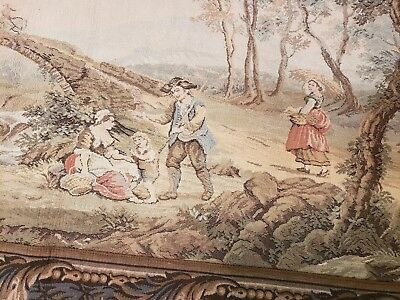 vintage FRENCH JP PARIS GOBELINS PANNEAUX wall hanging tapestry.