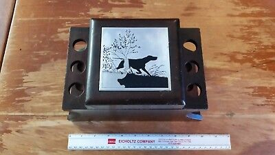 Vintage Novelty Pattberg 6 Pipe Stand Tobacco Humidor