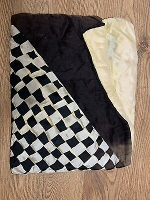 1920s Pyjama Case Silk Black & White Vintage