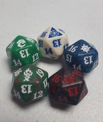 Ravnica Allegiance - Spindown Life Dice Set of 5 - 1 of Each Guild