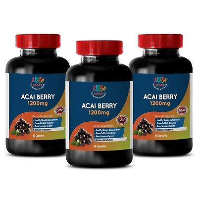 acai berry cleanse - Acai Berry 1200mg - diet energy pills - 3 Bottles