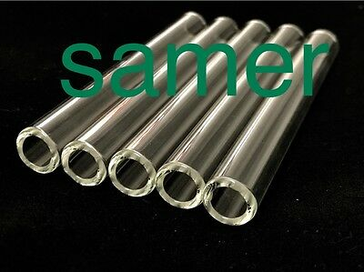 12 mm Glass Tubes 4 Inch Long 5 Piece 2 mm Thick Wall Tubing *****