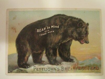 Vintage Pettijohn's Breakfast Food Trade Card