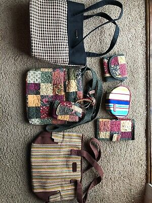 Longaberger And Donna Sharp Purse/wallet/phone Carrying Case Lot