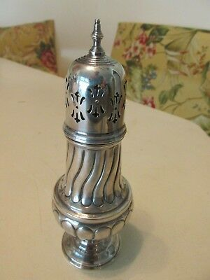 Hand Chased STERLING SILVER Sheffield England Muffineer Sugar Shaker 183 grams