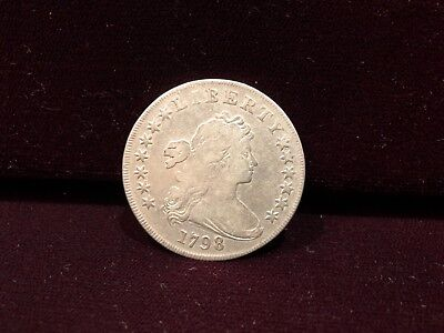 1798 Draped Bust $1 Silver Dollar Early Us Coin