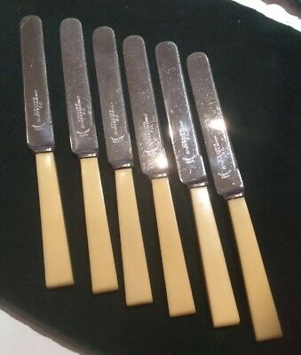 Set of 6 Vintage James Ryals Butter Cutlery Knives.
