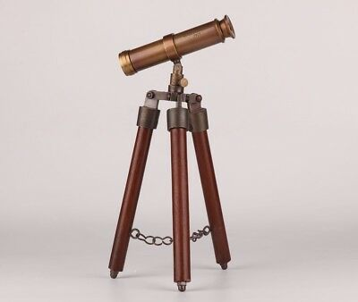 Rare Copper Handmade Telescope Old Collection Unique Upscale Gifts