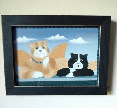 Cat Angels Framed Picture  8 X 6 inches