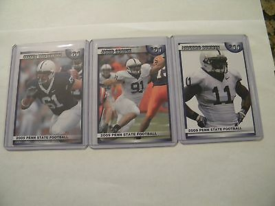 Three 2009 Penn State Football Iron Worker Cards