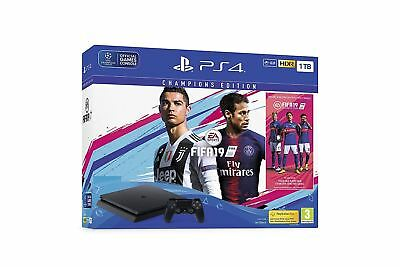 Sony Playstation 4 1Tb Console Black With Fifa 19 Champions Edition Ps4 Game Eu