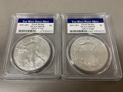 2017-(W) American Silver Eagle West Point Mint PCGS MS70 First Strike