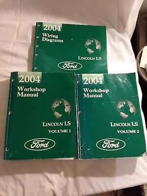 Ford (3)Workshop Manuals For 2004 Lincoln LS With Wiring Diagram Book.